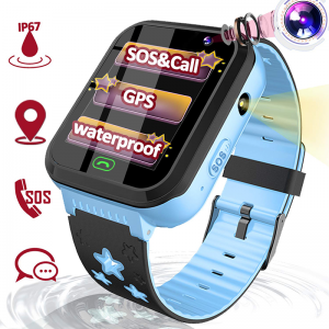 8-Kids-Smart-Watch-GPS-Tracker,-Waterproof-Smartwatch